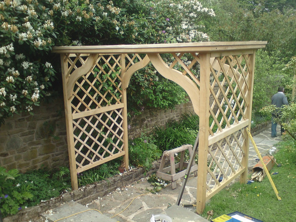 garden woodwork page sustainable post cedar top structures curved arbour