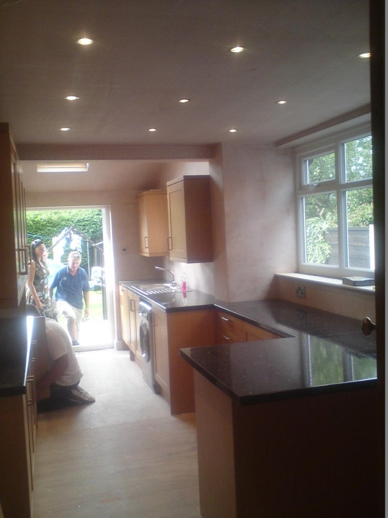 Kitchen install with downlights bsc construction offerton kitchen install incl new ceiling and downlights offerton workwithnaturefo